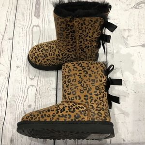 91c01585c53 Bailey Bow Leopard Print Toddler Boots NWT